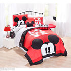 Disney Mickey Mouse Classic Luv Bedding Quilt Set Twin or Full Size