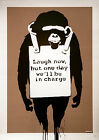 BANKSY LAUGH NOW GRAFFITI STREET WALL ART POSTER (A1 - A5 SIZES AVAILABLE)