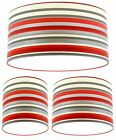 Lampshade Handmade with Arthouse Sophia Stripe Red Wallpaper Stripes MANY SIZE