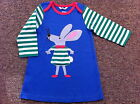 BABY GIRLS EX MINI BODEN APPLIQUE LONG SLEEVE DRESS 0 3 6 12 18 24 MTHS 2 3 4 YR