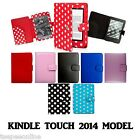 """for AMAZON KINDLE 6"""" TOUCH (SEP 2014 £59 7th EDITION) LEATHER CASE COVER"""