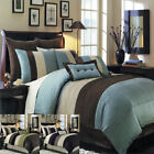 8PC-Hudson Comforter Set with Matching Skirt, Shams & Cushions image