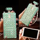 5 Colors Crystal Perfume Bottle Chain Hard Case Cover For Samsung S3 S4 NOTE 2 3