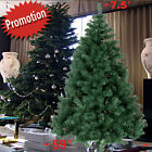 Green 5? / 6' / 7' / 7.5' Artificial Christmas Tree PINE Metal Stand Realistic Foldin