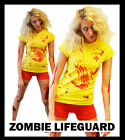 LADIES CHEAP SEXY SCARY HALLOWEEN FANCY DRESS COTUME ZOMBIE LIFEGUARD DEAD 1011