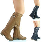 NEW WOMENS LADIES KNEE HIGH  FULLY LINED LONG WINTER  BOOTS SIZE 4 5 6 7 8