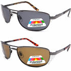 Mens UV400 Eyelevel Polarized Driving Sunglasses Metal Frames