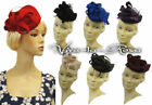 New Ladies 1940s Hollywood Glamour Retro WW2 Wartime Pin-up Pill Box Hat