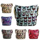 Ladies Girls Oilcloth Waterproof Butterfly Mini Satchel Messenger Cross Body Bag