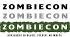 """Jeep Wrangler Side Hood Decal Pair Text """"ZOMBIECON"""" Your Choice of 3 Colors"""