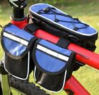 Gray Bicycle Frame 4 in 1 function Bike Pannier Front Tube Bag   Rain Cover