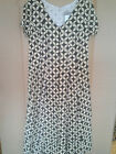 Adini 100% Cotton voile fully lined short sleeve button through dress V neck