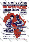 Boxing Poster re-print Classic George Foreman Vs Muhammad Ali Wall Art Print