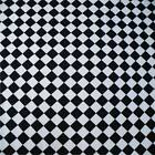 Harlequin Black & White Poly Cotton fabric material sold by the metre 115cm wide