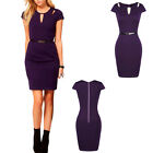 New Fashion Women Sexy Cap Sleeve Bodycon Party Slim Cocktail Pencil Short Dress