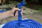 NEW Rubber Garden Car Washing Water Hose Pipe Spray Nozzle 25-100FT Expandable