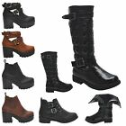 KIDS GIRLS BLOCK HEEL CHELSEA ANKLE CUT OUT ELASTIC ZIP CALF BOOTS SHOES UK8-3
