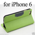 Faux Leather Card Slot Flip Case SView Stand Cover Glass SP For iPhone 6 6+ Plus