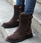 Winter Mens High Top Button Faux Suede New British Style Desert Mid Calf Boots