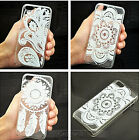 HENNA WHITE FLORAL PAISLEY flower mandala Case FOR IPHONE4 4S 5 5S 5C 6G 6G Plus