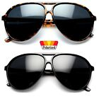 Classic Men\'s Fashion Aviator\'s Vintage Designer Polarized Sunglasses Black NEW