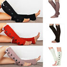 Women Winter Crochet Lace Trim Button Knit Boot Socks Leg Warmers Leggings