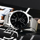 Hot New Casual Luxury Men's Stainless Steel Band Round Dial Quartz Wrist Watch