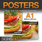 5 x A1 Poster Printing - Full colour MATT Poster Printing - FREE DELIVERY!