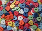 10, 50 or 200 Small, 11mm, Heart Buttons in Assorted Colours (B25)