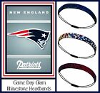 NWT 3 Pack New England Patriots Team Color Rhinestone Headbands Wear  w Jersey