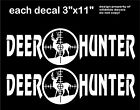 Deer Hunter Decal x2 buck Scope Hunting Decals vinyl car truck window sticker