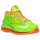 Boys Grade School Nike LeBron XI Low Electric Green / White / Orange 644534 300