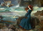 John William Waterhouse Miranda Pre Raphaelite Canvas Art Painting Poster Print