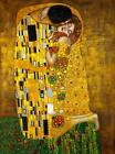 Gustav Klimt Thie Kiss 1908 Stretched Canvas Art Poster Print Painting Artist