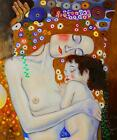 Gustav Klimt Mother and Child Stretched Canvas Art Poster Print Painting Artist