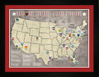 Tracking Art- NFL National Football League Team Arena Stadium Location Map TFOOT $39.00 USD on eBay