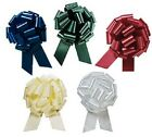 1x LARGE PULL-TIE SATIN BOW - 14cm - CHOOSE FROM 5 COLOURS
