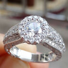 2.68 Ct CZ 925 Sterling Silver White Gold Plated Engagement Ring Women's Sz 5-10