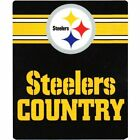 "NFL Licensed Pittsburgh Steelers 50""x60"" Fleece Throw Blanket (Multiple Styles)"