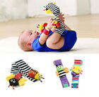 2015 New Infant Baby Wrist Watches Foot Socks Rattles Cute Bug Finders Toys
