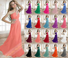 Beading 20-Colours Evening Dresses Prom Bridesmaid Gown Party Formal Dress 6-26