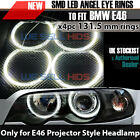 LATEST BMW E46 LED RING OPTIONS -NO PROJECTOR / REFLECTOR  HALO RINGS 2 door UK