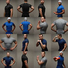 Men Sports Short Sleeve Compression Tight Fitness Gym Base Layers Shirt T-Shirts