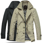 JK063 New Spring Fashion Men's Waterproof Windproof Thin Trench Jacket Coat