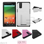 For ZTE ZMAX Z970 Phone Silicone Rubber TUFF HYBRID Armor hard Skin Case Cover
