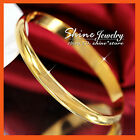 24K PLAIN YELLOW GOLD GF BA31 6MM MENS WOMENS SOLID ROUND BANGLE BRACELET GIFT