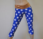 Hot Yoga CrossFit Capri Pant Workout Legging Tight Lycra America Wonderwoman