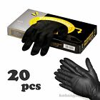 1 BOX Professional Black Protective Gloves 20 pcs For Hair Color Treatment