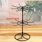 Jewellery Display Stand Rotating Revolving 2 Tier Metal Earring Spinner Showcase
