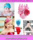 ♀ NEW BANDEAU CHEVEUX FILLE PLUME BEBE GIRL HEADBAND GLITTER FEATHER DIAMOND ☺